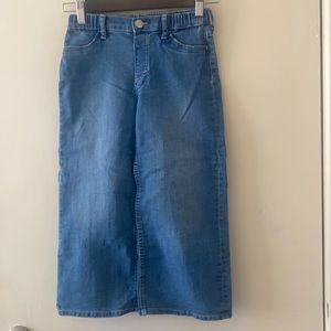 EUC H&M Girls Wide Leg Denim Jeans Size 6-7
